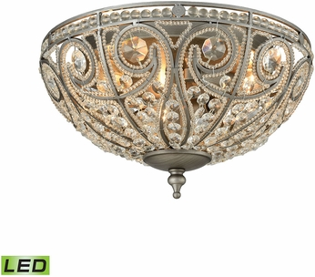 ELK 15993-3-LED Elizabethan Weathered Zinc LED Ceiling Light Fixture