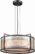 ELK 16192-3 Stasis Modern Oil Rubbed Bronze 18  Drum Hanging Pendant Light