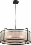 ELK 16193-4 Stasis Contemporary Oil Rubbed Bronze 25  Drum Pendant Hanging Light