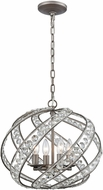 ELK 16248-4 Renaissance Weathered Zinc 16  Drop Lighting