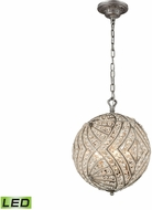 ELK 16254-5-LED Renaissance Weathered Zinc LED Hanging Lamp