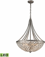 ELK 16255-6-LED Renaissance Weathered Zinc LED Pendant Light Fixture