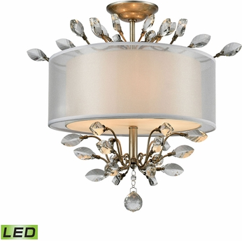 ELK 16281-3-LED Asbury Aged Silver LED Home Ceiling Lighting