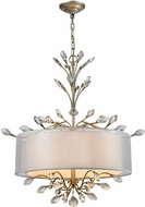ELK 16282-4 Asbury Aged Silver Drum Hanging Light Fixture