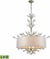 ELK 16283-6-LED Asbury Aged Silver LED Drum Ceiling Light Pendant