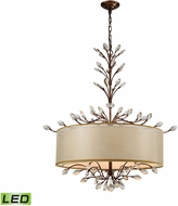 ELK 16293-6-LED Asbury Spanish Bronze LED Drum Pendant Lighting