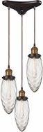 ELK 16310-3 Owen Contemporary Oil Rubbed Bronze Antique Brass Multi Lighting Pendant