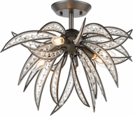 ELK 16362-5 Naples Dark Graphite 21  Ceiling Lighting