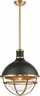 ELK 16575-1 Jenna Contemporary Matte Black / Satin Brass Lighting Pendant