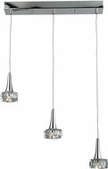 ELK 17166-3 Alea Polished Chrome LED Multi Ceiling Pendant Light