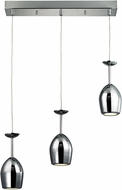ELK 17171-3 Vasso Chromo Modern Polished Chrome LED Multi Drop Lighting Fixture