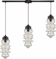ELK 17205-3L Cipher Modern Oil Rubbed Bronze Multi Pendant Lighting Fixture