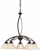 ELK 17646-5 Contemporary Oil Rubbed Bronze Chandelier Light
