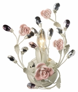 ELK 18093/1 Heritage Cream Finish 12 Inch Tall Porcelain Rose Sconce Lighting Fixture
