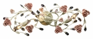 ELK 18094/3 Heritage 3 Lamp 27 Inch Wide Vanity Light Fixture With Porcelain Roses