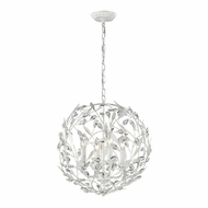 ELK 18124-4 Circeo Contemporary Antique White Ceiling Light Pendant