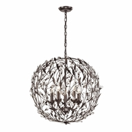 ELK 18135-5 Circeo Contemporary Deep Rust Pendant Lighting