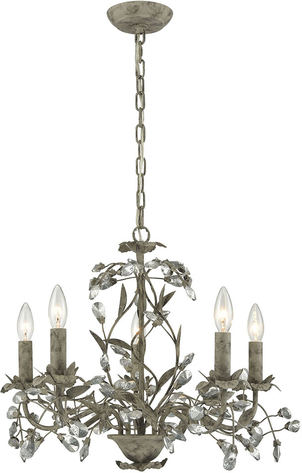 elk 18163 5 circeo marble gray mini chandelier light elk 18163 5