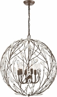 ELK 18258-6 Crislett Sunglow Bronze Pendant Lighting