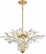 ELK 18295-7 Flora Grace Modern Champagne Gold 28  Hanging Light