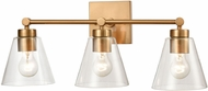 ELK 18334-3 East Point Modern Satin Brass 3-Light Bath Sconce