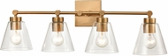 ELK 18335-4 East Point Contemporary Satin Brass 4-Light Vanity Light Fixture