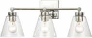 ELK 18344-3 East Point Modern Polished Chrome 3-Light Vanity Lighting Fixture