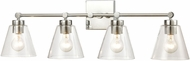 ELK 18345-4 East Point Contemporary Polished Chrome 4-Light Bathroom Vanity Light Fixture