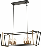 ELK 18357-8 Bridgette Modern Matte Black / Satin Brass Island Lighting