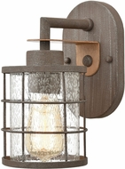 ELK 18363-1 Gilbert Contemporary Rusted Coffee / Light Wood Wall Sconce Light