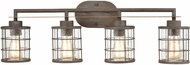 ELK 18366-4 Gilbert Contemporary Rusted Coffee / Light Wood 4-Light Bath Wall Sconce