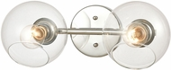 ELK 18374-2 Claro Contemporary Polished Chrome 2-Light Bathroom Light Sconce