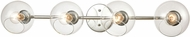 ELK 18376-4 Claro Contemporary Polished Chrome 4-Light Bathroom Sconce Lighting
