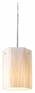 ELK 19031/1 Modern Organics Polished Chrome Finish White Sawgrass 7 Inch Tall Pendant Light