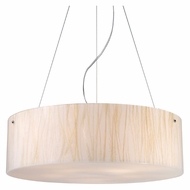 ELK 19033/5 Modern Organics Large 24 Inch Diameter White Sawgrass Drum Pendant Lighting