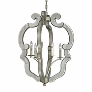 ELK 19102-4 Mariana Contemporary Speckled Silver Hanging Lamp