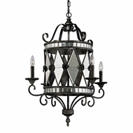 ELK 19103-4 Mariana Modern Blackened Silver Chandelier Light