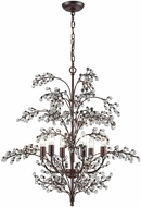 ELK 20092-6 Winterberry Contemporary Antique Darkwood Chandelier Lamp