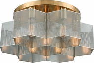 ELK 21109-7 Compartir Modern Satin Brass / Polished Nickel Ceiling Light Fixture