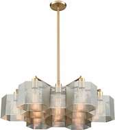 ELK 21115-13 Compartir Contemporary Polished Nickel / Satin Brass 30  Drop Lighting Fixture