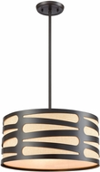 ELK 21123-3 Alton Modern Oil Rubbed Bronze Drum Pendant Lighting
