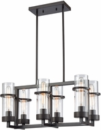 ELK 21145-6 Holbrook Contemporary Oil Rubbed Bronze Island Light Fixture