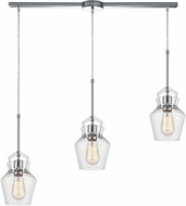 ELK 21161-3L Caliper Contemporary Polished Chrome Multi Pendant Lighting Fixture