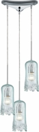 ELK 21166-3 Hand Formed Glass Modern Polished Chrome Multi Drop Lighting