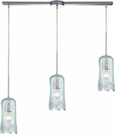 ELK 21166-3L Hand Formed Glass Contemporary Polished Chrome Multi Drop Ceiling Lighting
