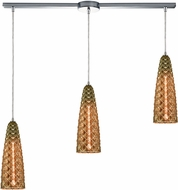 ELK 21168-3L Glitzy Modern Polished Chrome Multi Drop Ceiling Light Fixture