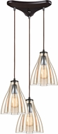ELK 21182-3 Matilda Contemporary Oil Rubbed Bronze Multi Pendant Lamp