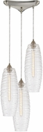 ELK 21192-3 Liz Contemporary Satin Nickel Multi Pendant Lighting Fixture