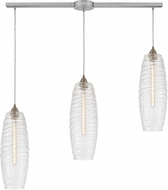 ELK 21192-3L Liz Modern Satin Nickel Multi Hanging Pendant Lighting