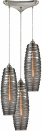ELK 21193-3 Liz Modern Satin Nickel Multi Pendant Hanging Light